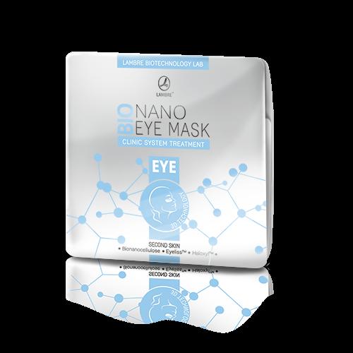 BIONANO EYE MASK Lambre Бионаноцеллюлозная маска Ламбре для кожи вокруг глаз с активатором содержащим HALOXYL™ и EYELISS™