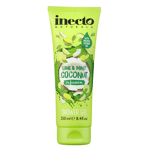 Inecto Infusions Lime and Mint Coconut Shower Gel Гель для душа  Кокос & Лимон & Мята Ламбре
